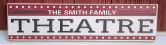 Family Name Theatre Sign
