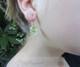 Model with Momo Glassworks Pomegranate Earrings