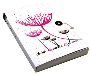 Plantable Journal with Lined Paper - Pink Dandelions