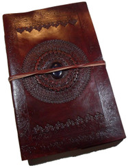 embossed leather journal handcrafted with lined paper