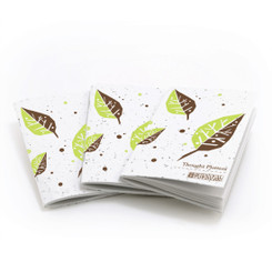 Thought Plotters Plantable Pocket Notebooks 3 Pack - Green Leaf