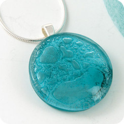 Momo Glassworks Aqua Glass Medallion