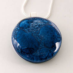 Momo Glassworks Cobalt Blue Medallion