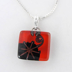 Glass Pendant Charm - Joan's Star