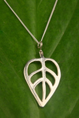 Sterling Silver Leaf Necklace by Filou