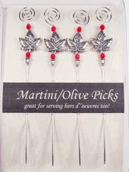 Canadian Gift Maple Leaf Martini Olive Picks