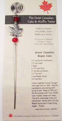 Canadian Gift Maple Leaf Cake and Muffin Tester
