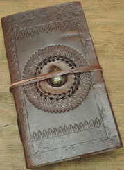leather journal with cotton handmade paper