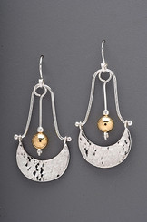 Crescent Drop Sterling Earrings