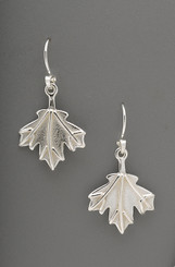 Maple Leaf Sterling Silver Earrings