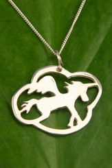 Filou Designs Sterling Unicorn Necklace