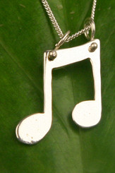 Filou Designs Sterling Double Music Notes Necklace