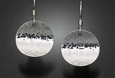 Sterling Hammered Earrings
