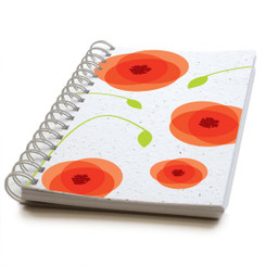 Plantable Seed Paper Journal - Bright Poppies