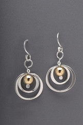Spinning Circle Sterling Earrings