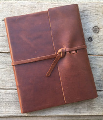 Rustico Writers Log Leather Journal - Saddle