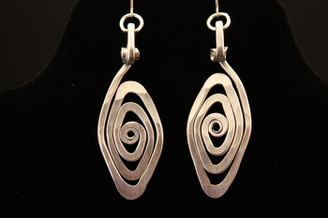 Funky Spiral Eye Earrings