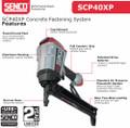 """Senco SCP40XP Concrete & Steel Pin Nailer - 1/2"""" - 1-1/2"""" - 7J0001N"""