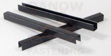 "3/8"" 22 Gauge 3/8"" Crown Black Upholstery Staples - 10,000 per Box - 87006B"