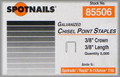"3/8"" T50 / A11 Galv. Staples Similar to Arrow - 5,000 per Box - Spotnails 85506"