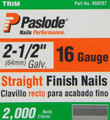 "Paslode 650287 16 Ga. 2-1/2"" Galv. Finish Nails - 2,000 per Box"