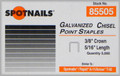 "5/16"" T50 / A11 Galv. Staples Similar to Arrow - 5,000 per Box - Spotnails 85505"
