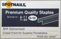 "9/16"" T50 / A11 Galv. Staples Similar to Arrow - 5,000 per Box - Spotnails 85509"