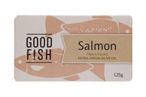 SALMON FILLETS in Organic Extra Virgin Olive Oil 125g CAN