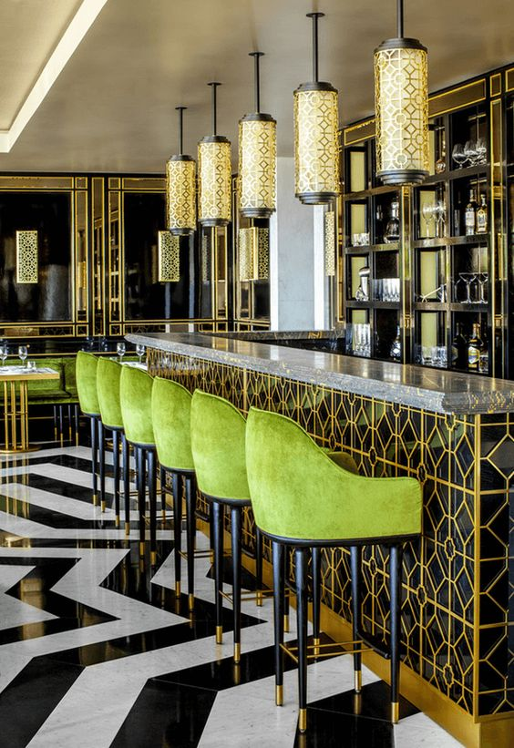 Gold and Green Hotel Decor | Must-Have Bins