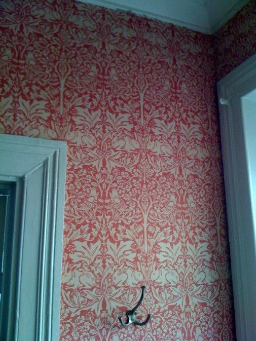William Morris Red Wall Paper