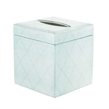 Pastel Florentine Tissue Box Cover - Blue