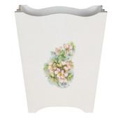 White Rose Florentine Waste Paper Bin