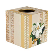White Clementis Tissue Box Cover