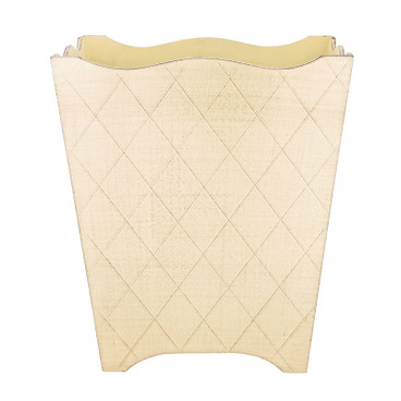 Pastel Florentine Waste Paper Bin - Small - Sunny Yellow