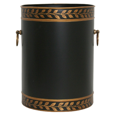 Elegant waste paper bin waste paper basket the grecian leaves bin - Elegant wastebasket ...