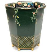 Fleur Waste Paper Bin - Green
