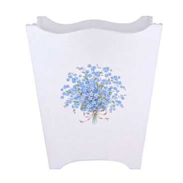 Small Forget-Me-Not Waste Paper Bin - Blue