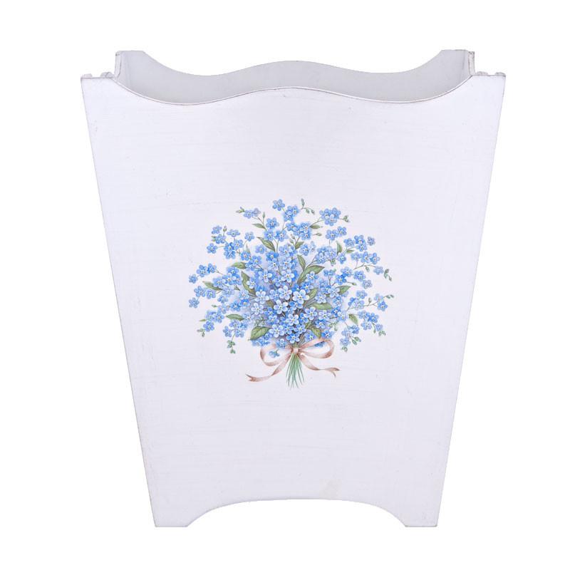 Waste Paper Basket pretty waste paper bin / waste paper basket - the forget-me-not bin