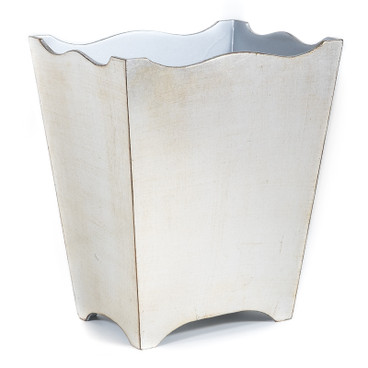 Brushed Silver Waste Paper Basket