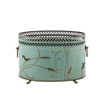 Dragonfly Oval Cache Pot
