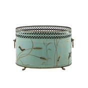 Dragonfly Oval Cache Pot