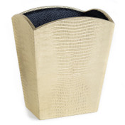Gold Embossed Waste Paper Bin