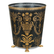 Black Festoon Waste Paper Bin