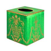 Forest Green Festoon Tissue Box Cover