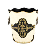 Rococo Waste Paper Bin - Ivory