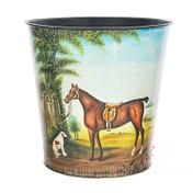 Horse and Hound Waste Paper Bin