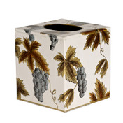 Ivory Grapevine Tissue Box Cover