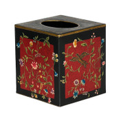 Red and Blackbird Tissue Box Cover - out of stock