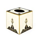 Rococo Tissue Box  Cover - Classic White