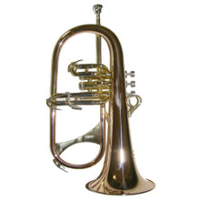 B Flat Gold Flugel Horn with Case